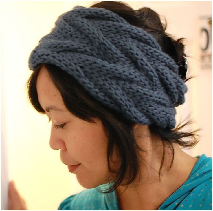 Free Knitting Pattern Chunky Headband : Top 10 Warm DIY Headbands (Free Crochet and Knitting Patterns) Patrones, Pa...