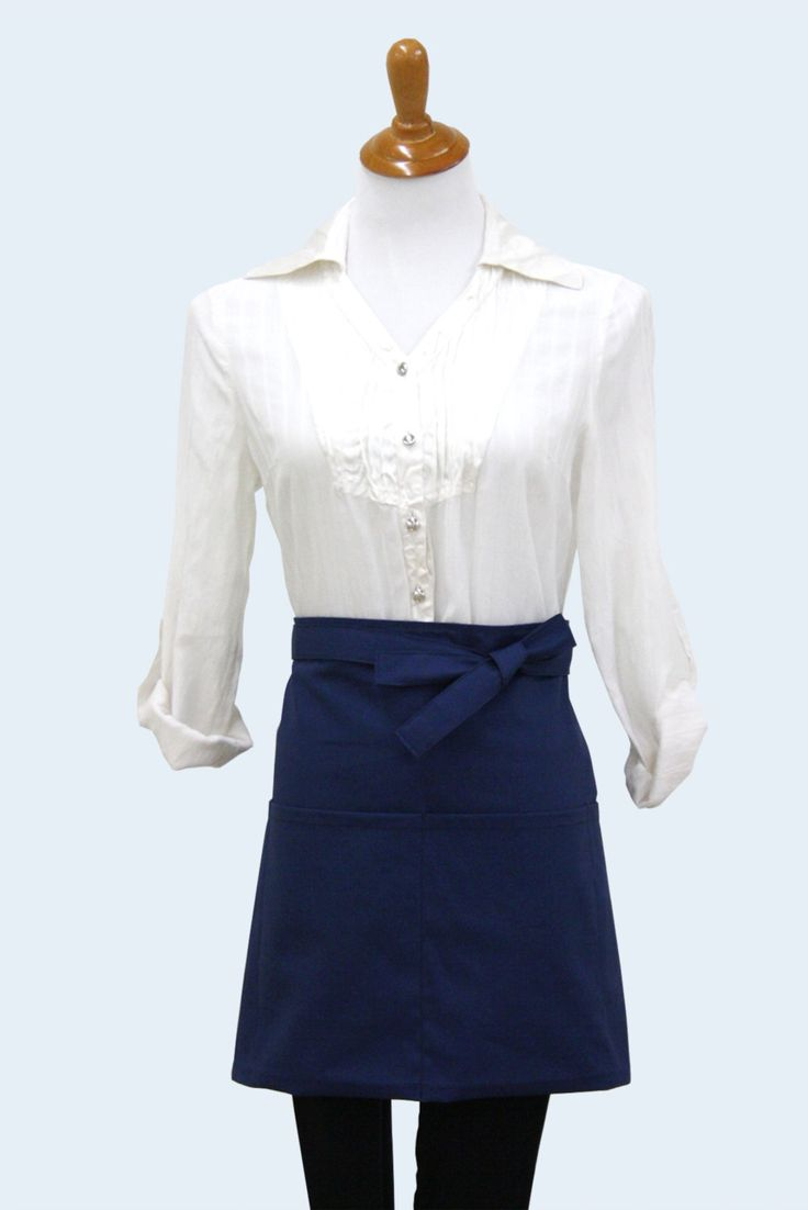 White apron canada - 3 Solid Colour Cotton Half Apron With Pockets Waist Apron Vendor Apron Waitress Apron Utility Apron Made In Canada