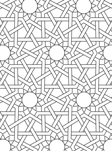 islamic ornament mosaic coloring page from mosaic category select from 24104 printable crafts. Black Bedroom Furniture Sets. Home Design Ideas