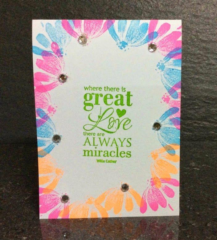 One Layer Card- Imaginecrafts, PennyBlack, Stamp IT, Want2Scrap- Bridget Larsen