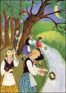 "Polish Easter Traditions | Greeting the summer with ""SWIETOJANSKE WIANKI"""