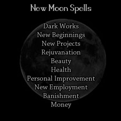 "breelandwalker:  wood-fires:  What Types of Spell Work To Do By: Moon Phase  Much as I'm not thrilled by the ""dark"" and ""light"" references, this is a pretty accurate reflection of the lunar magic cycle that I use in my own practice."