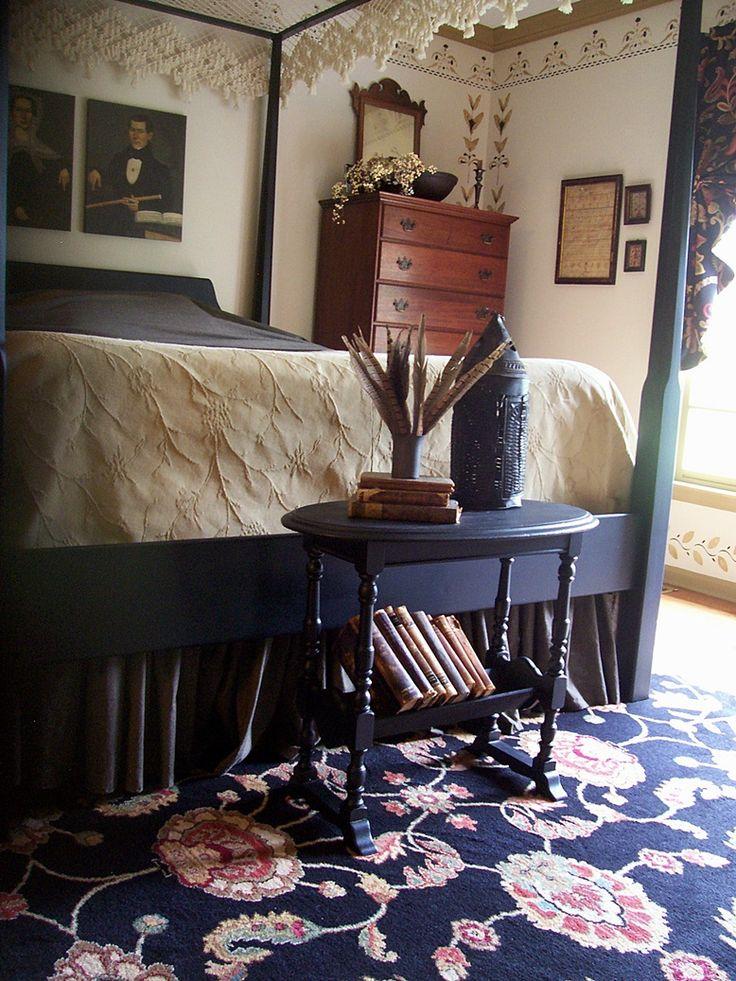 361 best primitive bedroom images on pinterest colonial for Primitive interior designs