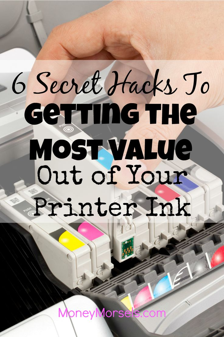 Printer ink is expensive. Here are 6 secret hacks to getting the most value out of your printer ink.
