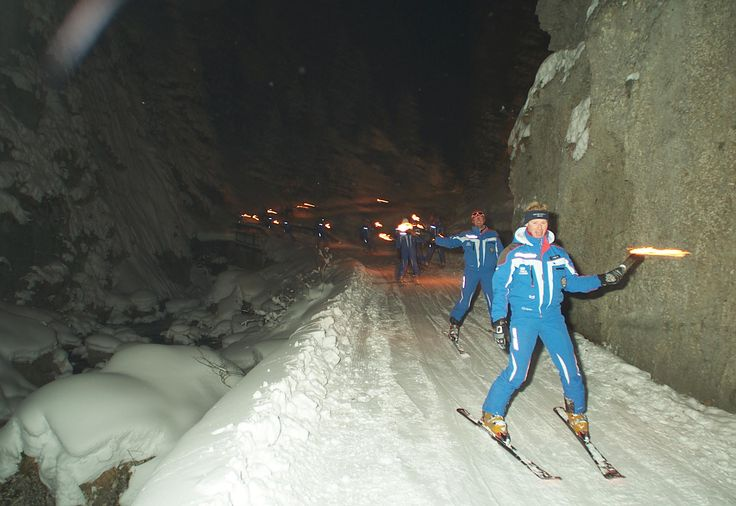 Torchlight on the ski! #dolomitistars