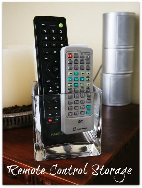 Remote Control Storage A Pretty Simple Solution Remote