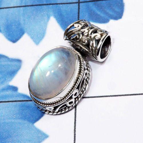 Colgante de piedra de luna arco iris, colgante del arco iris, moonstone del arco iris de la joyería, 925 colgante Plata, colgante de piedras preciosas de plata, regalo para ella, joyería