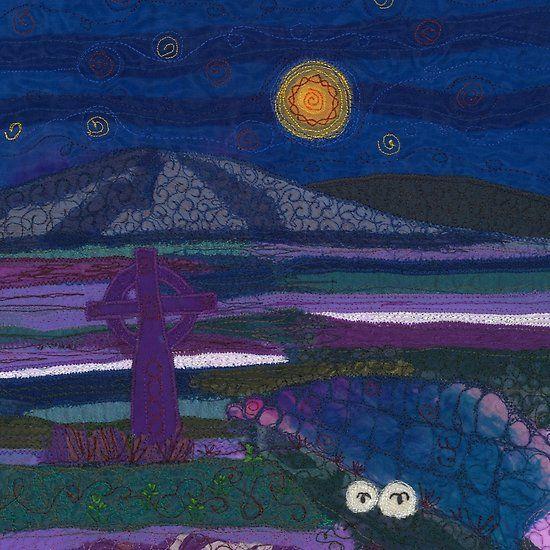 Celtic Landscape Textile Art