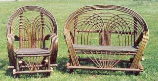 Willow or Twig porch furniture