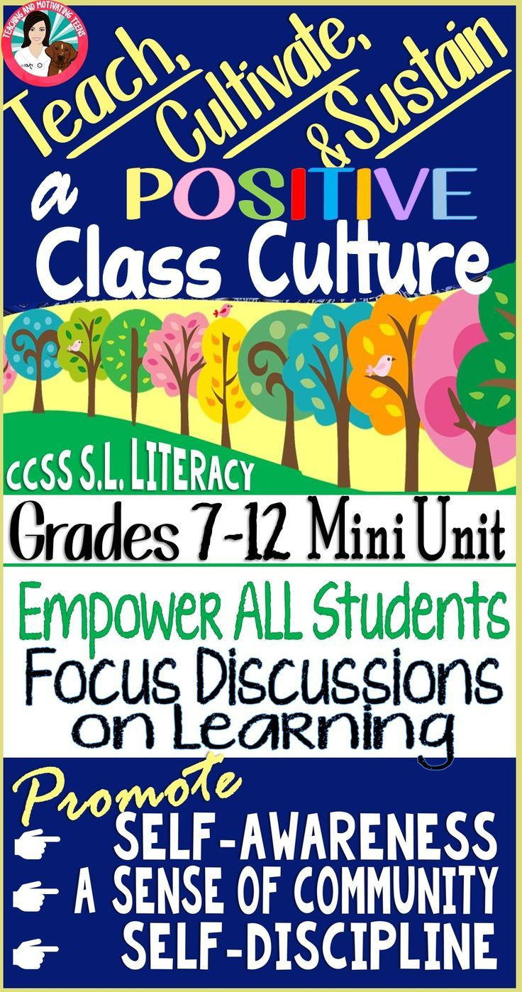 A fun, engaging cross curricular mini-unit & teachers' guide designed to empower you as you cultivate and sustain a positive classroom culture as a middle or high school teacher. Minimize talking, interrupting, blurting out, side conversations, attention-seeking behaviors, dominant-submissive group discussions through lessons in self-awareness and self-discipline.