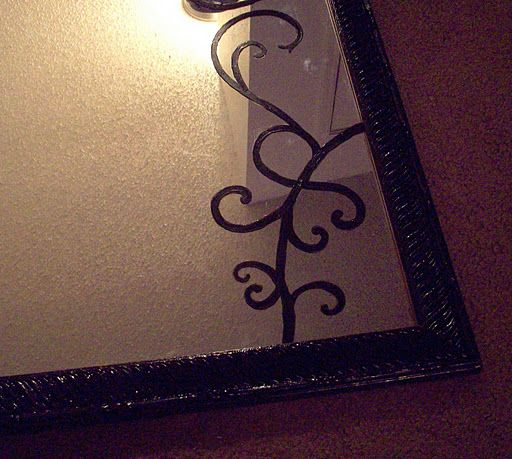 Cover My Cracked Mirror With A Contact Paper Decal