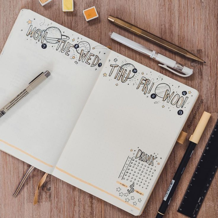 """551 Likes, 24 Comments - Jann's Scribbles (@jannplansthings) on Instagram: """"""""Woo!"""" Are the best days of the week . This is my weekly for my #bulletjournal this week! Keeping…"""""""