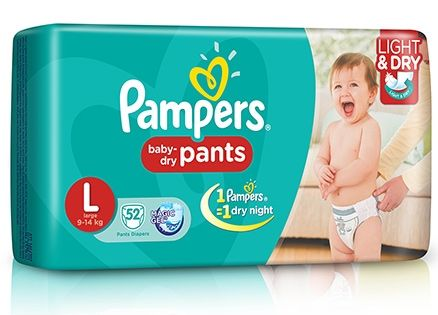 Pampers Pant Diapers Light And Dry Large - 52 Pieces- Review By Shilpi on http://www.firstcry.com i used pampers for my elder kid also..... and now again for my younger one... i hav used libero also..but pampers s the best.. .though libero was also good... the only drwback with all pant style diap...