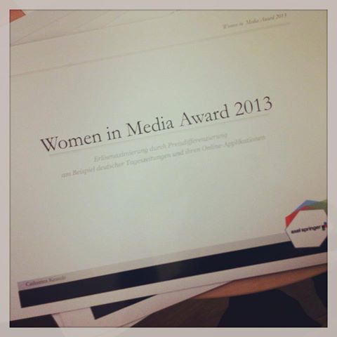 #AxelSpringer  #WomeninMediaAward