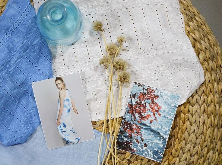 SS16 Moodboard n.1  #lightblue #sangallo #linen #mood #summer #holidays #travel…