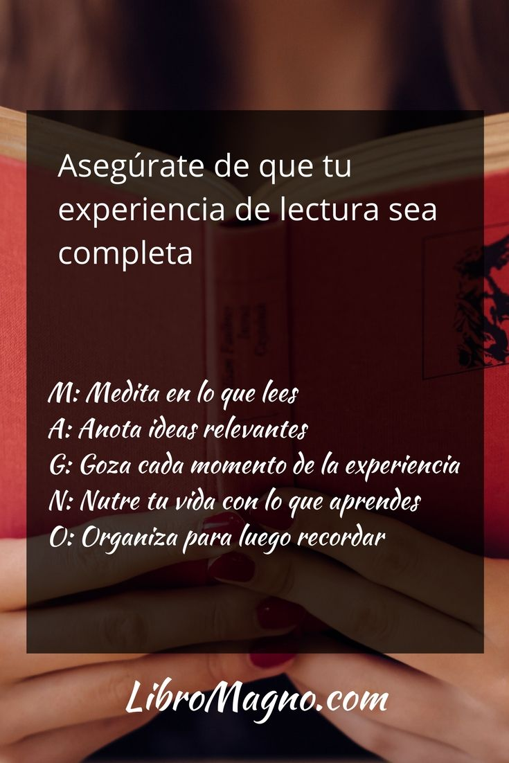 """Un nuevo consejo de #libromagno """"El ABC para tener una lectura más productiva"""" http://www.libromagno.com/2017/05/consejo-el-abc-para-tener-una-lectura.html"""