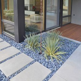 Modern front yard landscaping idea