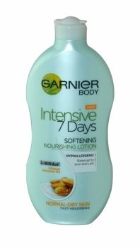 Garnier Body Intensive 7 Days Lotion 400ml Normal To Dry Skin Hypoallergenic Balanced to your skin's pH L-Bifidus + sweet almond oil Fast-absorbing Non-greasy, non-sticky