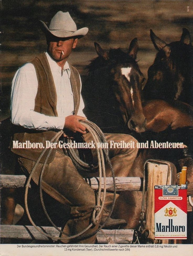 "realmensmoke: ""  Marlboro Man 1980′s most likely from a German magazine ad. Marlboro Man 1981 """