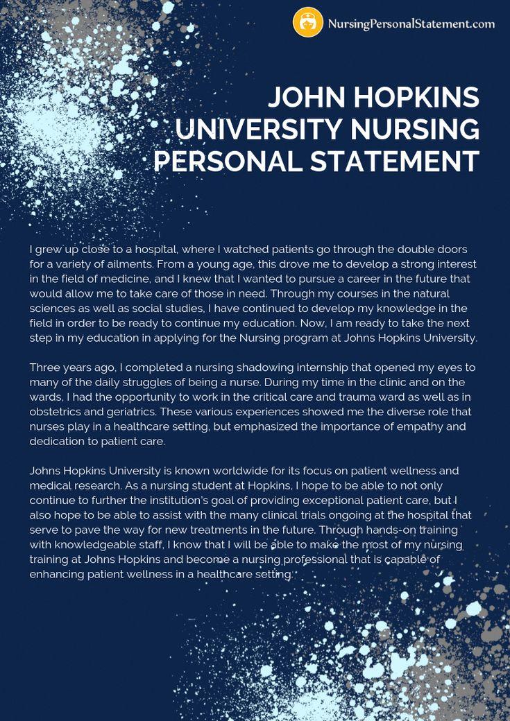 statement nursing personal examples hopkins johns degree medical example lpn ct university programs certificate grad looks certification accelerated topnursingcareers nurse