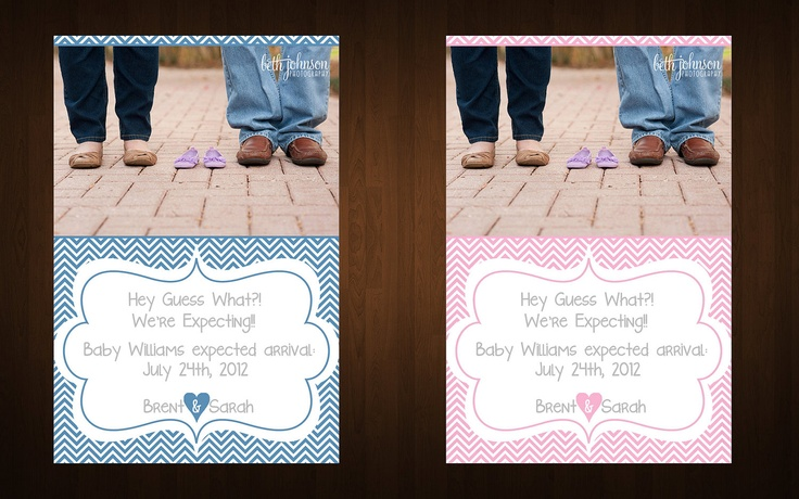 Customizable Chevron We're Expecting Announcement (YOU PRINT)