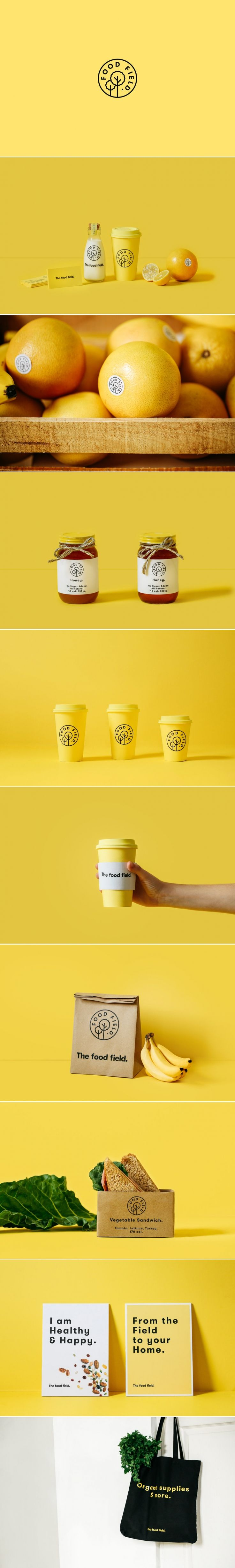 The Food Field — The Dieline - Branding & Packaging Design http://jrstudioweb.com/diseno-grafico/diseno-de-logotipos/