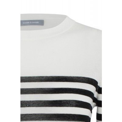 Samsøe & Samsøe - Bow O-Neck Black Stripe - Kotyr.com