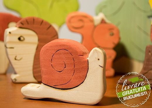 forest animals - wooden toys