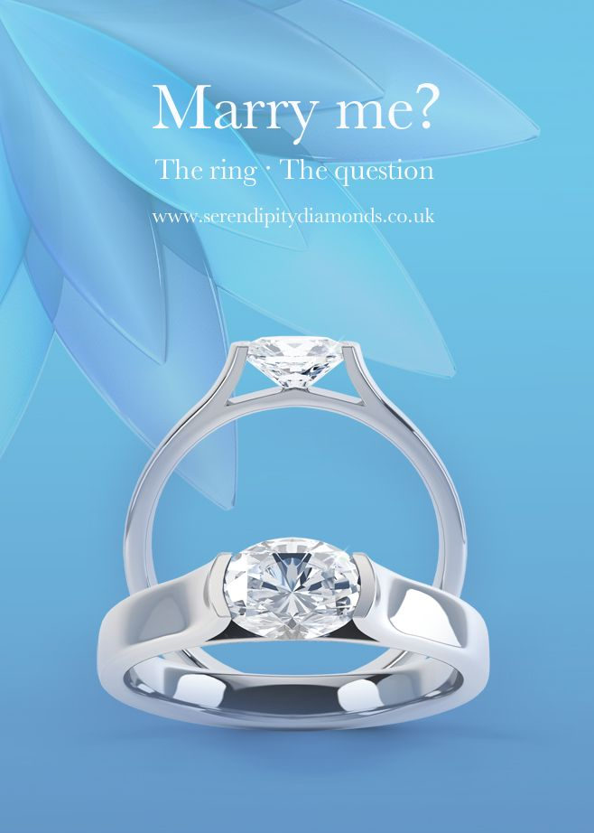 Engagement rings, engagement rings, engagement rings. Decisions, decisions. One question and one ring. www.serendipitydiamonds.co.uk. Ring featured is the tension set sideways oval engagement ring R1H008