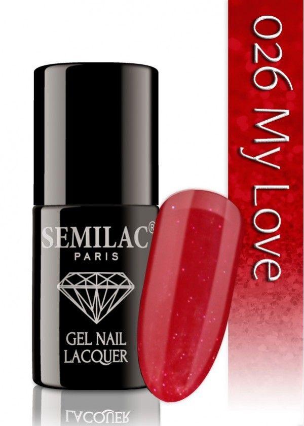 Semilac 026 My Love UV&LED Nagellack. Auch ohne Nagelstudio bis zu 3 WOCHEN perfekte Nägel!