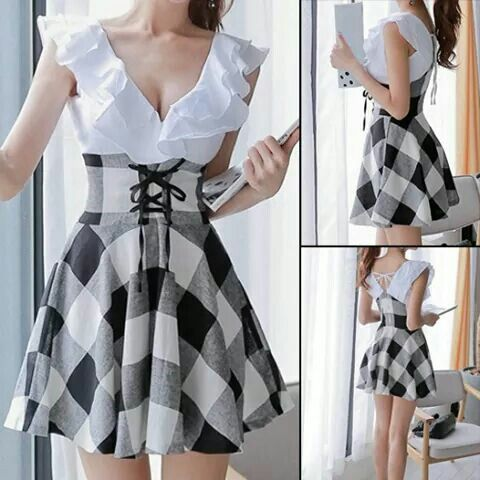 Lacy checked dress http://m.dresslily.com/checked-dress-product746368.html?lkid=25909&utm_source=facebook&utm_medium=direct&utm_campaign=6334