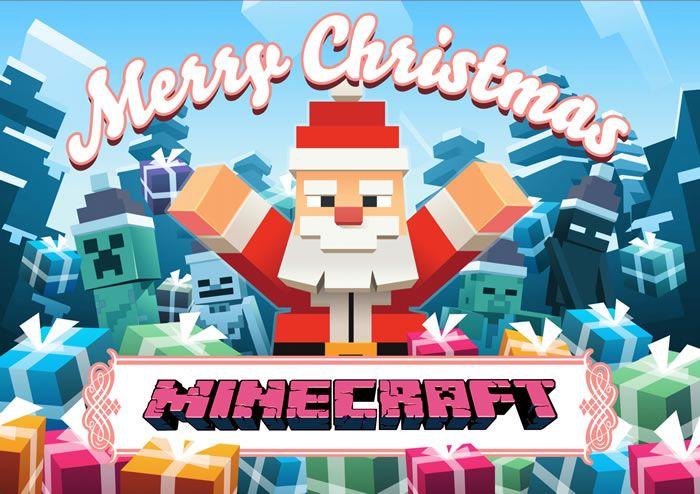 Sugiero para decorar sus computadoras Fondo de Pantalla Navidad juego de Minecraft