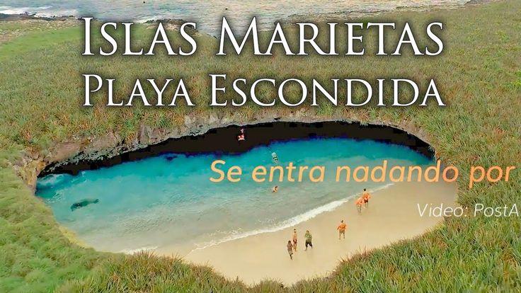La Playa Escondida en las Islas Marietas, Nayarit, lee más y cómo llegar aquí: https://www.puertovallarta.net/espanol/que-hacer/islas-marietas