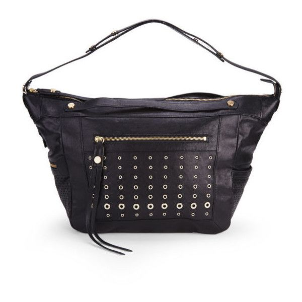 BOSS Orange Rayda-E Perforated Studded Leather Slouch Tote Bag - Black and other apparel, accessories and trends. Browse and shop 1 related looks.