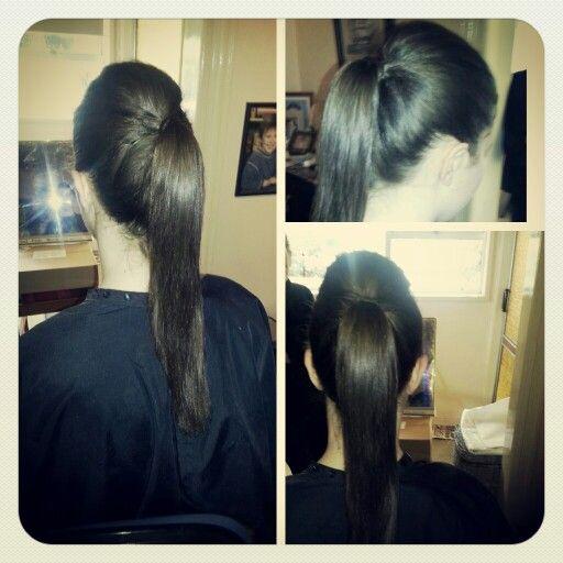 High ponytail #brunette #hair pony #styledbymia