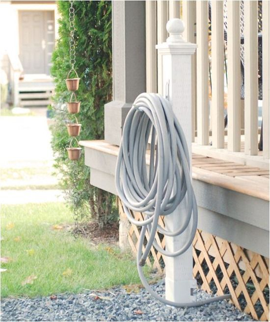 Hose Holder Post, Metal Spike (so No Post Holes And Cement Are Needed),  Cheap Hook (to Hold The Hose), A Topper For The Post, And Spray Paint.  Interior ...