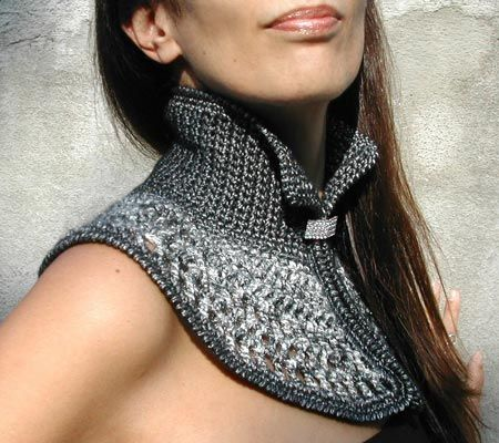 Again with the cool crocheting! awesome alternative to a scarf