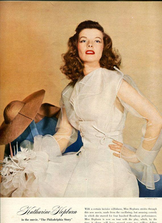Kathryn Hepburn in The Philadelphia Story (Vogue)