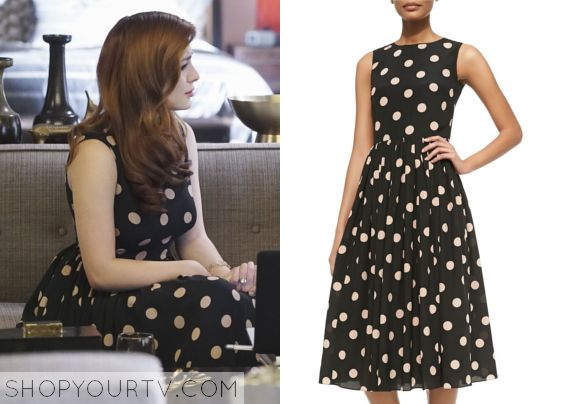 Revenge: Season 5 Episode 19 Louise's Polka Dot Flare Dress