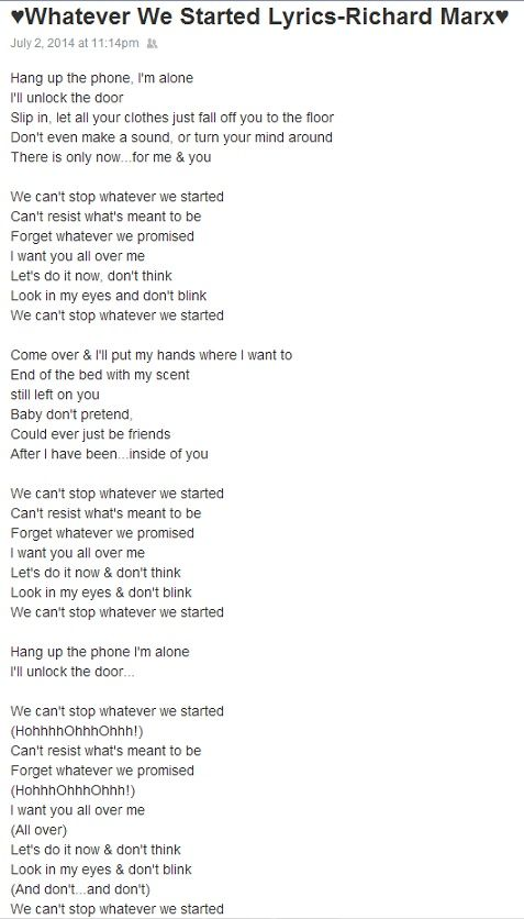 Look What We Started Now Lyrics