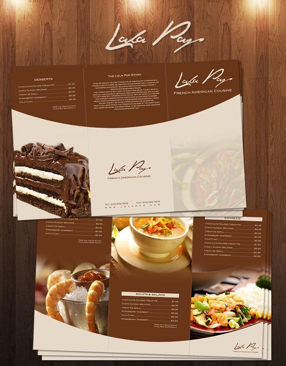 Carta de restaurante creativa   Restaurantes   Branding  amp  Men  250