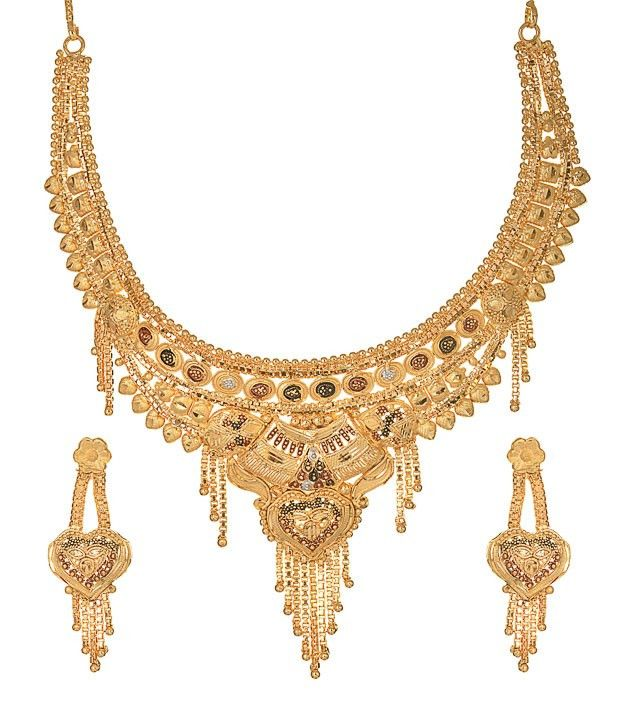 new log necklace gold plated or 1 gram jewellery online india  sc 1 st  Pinterest & 7 best Gold Plated Necklace Set Designs images on Pinterest | Gold ...