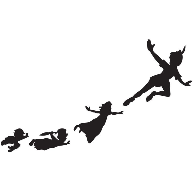 13 Deals   Peter Pan Flying Shadows Set Of Wall Clings   Ships Free