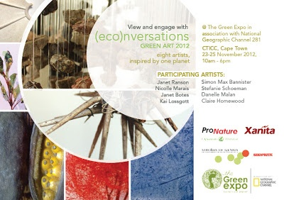 Join the conversation, Green Art 2012, 23-25 Nov at the CTICC