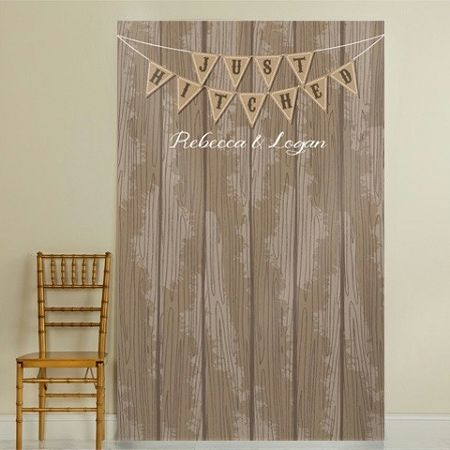 Costomized Country Chic Wedding Photo Backdrop. Create the perfect wedding photos with uniquely designed rustic themed photo backdrops and photo booth backgrounds.