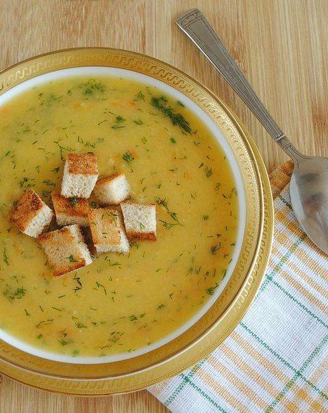 Гороховый суп с сухариками : ВГотовке.сom - лучшие рецепты мира