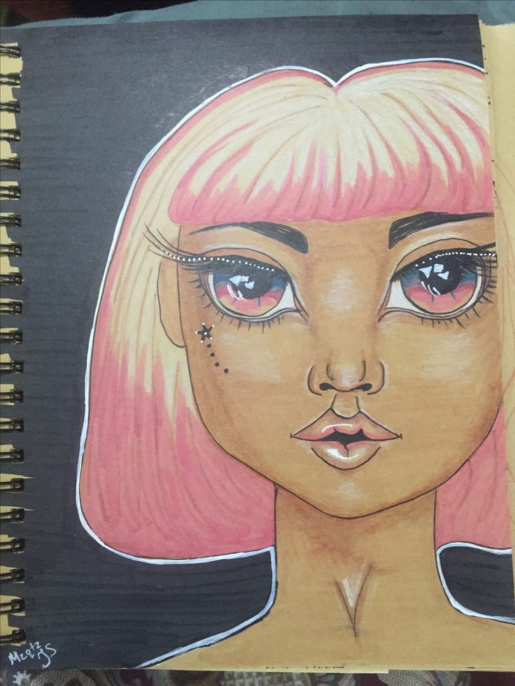 Art journal page by Tanya S a.k.a Mzqtz #copic #artjournal