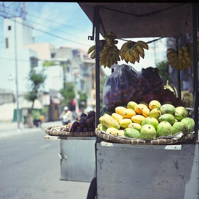 Tropical fruits in VietNam, taken with Rolleiflex