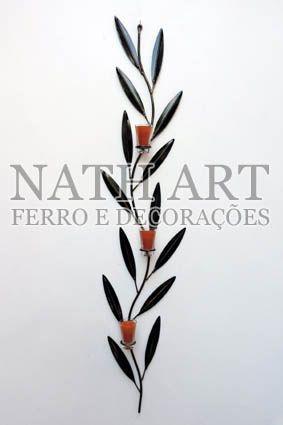 Castiçais de Ferro - NATH ART FERRO DECORAÇÕES
