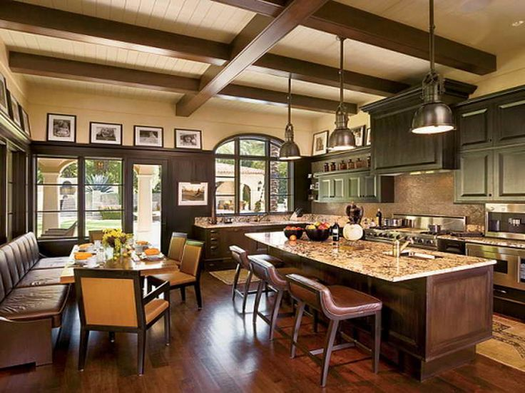 How to arranging the home banquet seating with the kitchen